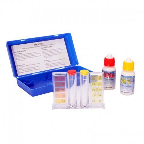 Kit per la misurazione del cloro e del pH nell'acqua della piscina